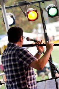 irish flute jhp on stage